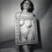 Self-portrait Framed, 1987 Gelatin silver print, printed 2008 10 x 8 inches