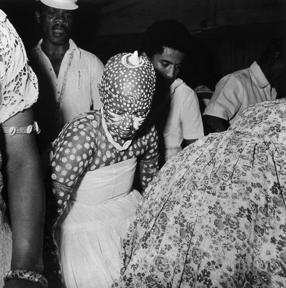 Condomble initiation trance, Salvador, Bahia, Brazil, 1980 Gelatin silver print, printed 1985 37 x 33 inches