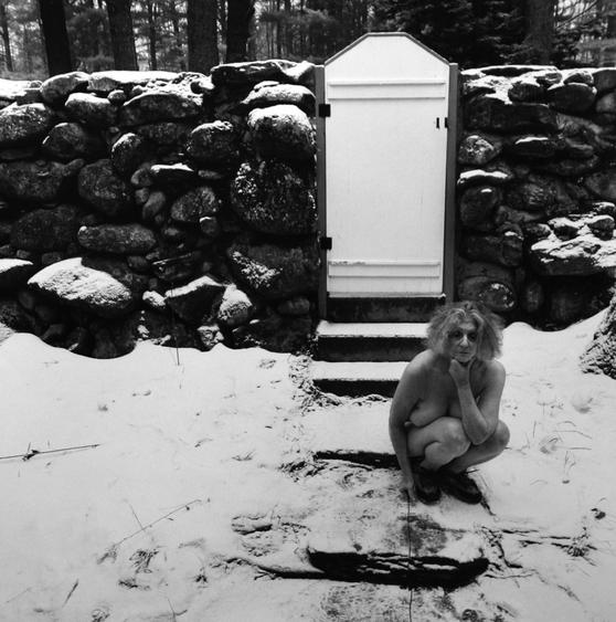 Self-portrait in Snow, Macdowell, Peterborough, NH, 2002 Gelatin silver print, printed 2002 20 x 16 inches