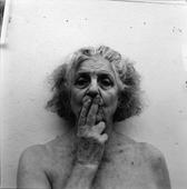 Two Fingers On My Mouth, Macdowell, Peterborough, NH, 2002 Gelatin silver print, printed 2003 20 x 16 inches