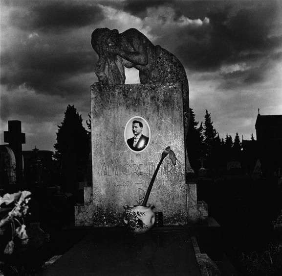 Mourning Sculpture, Palerno, Italy, 1976 Gelatin silver print, printed 1976 20 x 16 inches