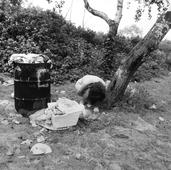 Nude with Garbage, 1987 Gelatin silver print, printed 1987 20 x 16 inches
