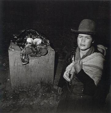 Woman with Her Husband's Corpse, Huari, Ancash, Peru, 1981 Gelatin silver print, printed c. 2001 31 x 31 3/4 in.