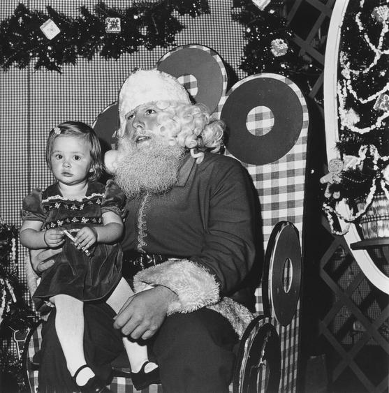 Santa Claus, Northgate Mall, 1975 Gelatin silver print, printed c. 1977 48 x 48 in.