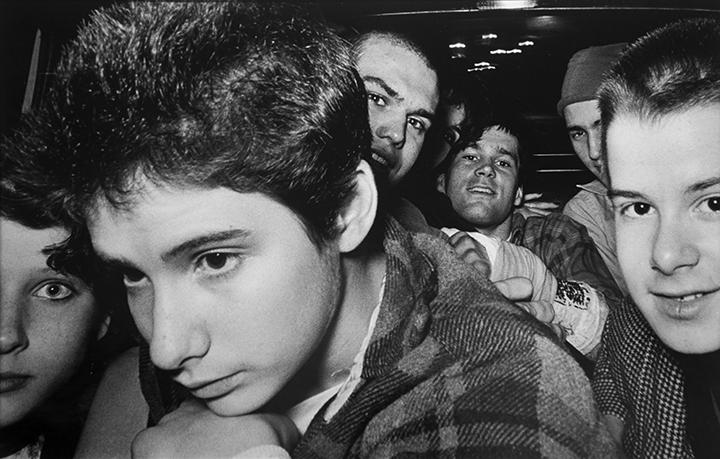 8 Punk Rockers [with Ad-Rock from the Beastie Boys], 1982 Gelatin silver print 16 x 20 in. (40.64 x 50.8 cm)