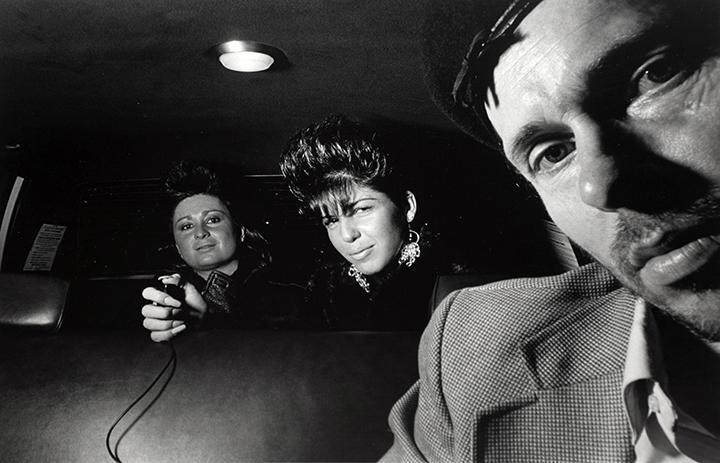 Self-Portrait with Passengers Releasing Shutter, 1986 Gelatin silver print 16 x 20 in. (40.64 x 50.8 cm)
