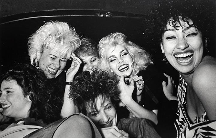 Six Girls Crack Up, 1982 Gelatin silver print 16 x 20 in. (40.64 x 50.8 cm)