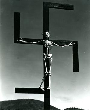Paul Strand Skeleton/Swastika, Connecticut, 1939-1940 Gelatin silver print, printed c. 1950's 9 1/4 x 7 1/2 inches