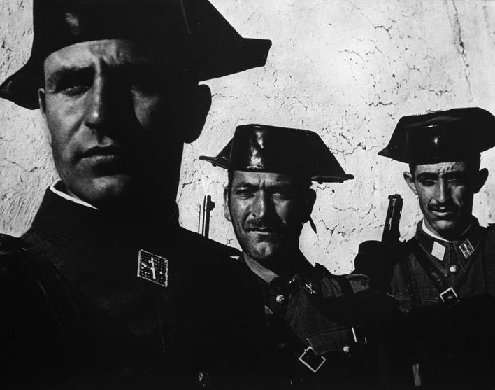 Spanish Village, Guardia Civil, 1950 Gelatin silver print mounted to board, printed no later than 1960 12 1/2 x 15 1/4 inches