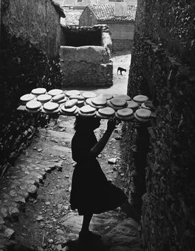 Spanish Village, 1950 Gelatin silver print mounted to board, printed no later than 1960 13 1/2 x 10 inches