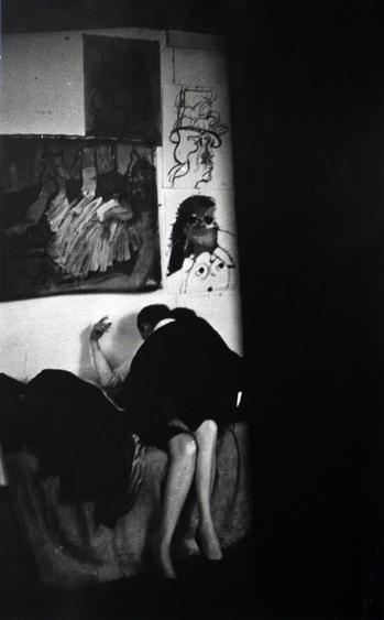 The Loft From Inside In (Couple on Couch), c. 1957-68 Gelatin silver print, printed c. 1957-68 16 x 20 inches