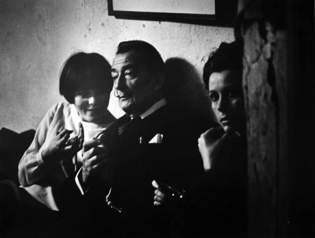 The Loft From Inside In (Salvador Dali and two young women), c. 1957-68 Gelatin silver print, printed c. 1957-68 16 x 20 inches