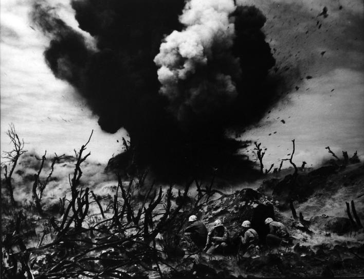 World War II, Iwo Jima, Sticks and Stones, 1945 Gelatin silver print, printed c. 1945 16 x 20 inches