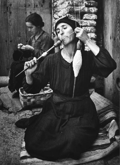 Spanish Village, The Spinner, 1950 Gelatin silver print mounted to board, printed c. 1950 22 1/2 x 16 1/4 inches