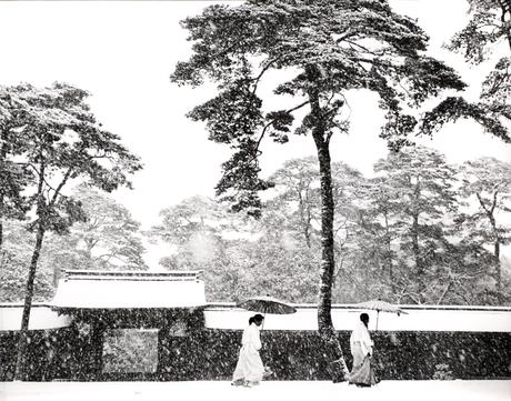 In the Court of the Meiji Shrine, Tokyo, Japan, 1952 Gelatin silver print, printed c. 1955 10 7/8 x 13 3/4 inches