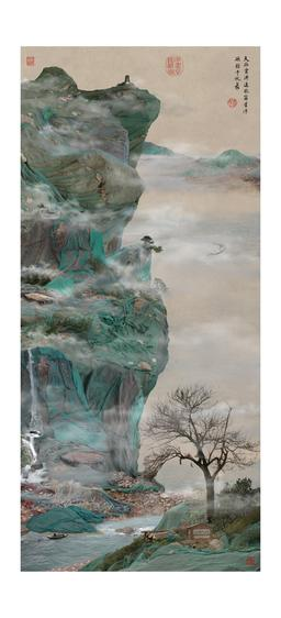 Green Cliffhanger, 2009 Chromogenic print