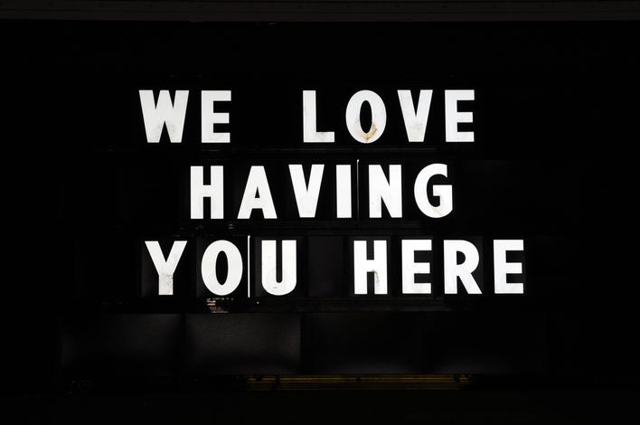 We Love Having You Here, 2001-2008 Archival inkjet print 20 x 30 inches