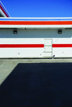 Red, White, and Blue Gas Station, 2001-2008 Archival inkjet print 30 x 20 inches