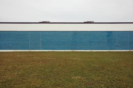 Blue Building with Grass, 2001-2006 Archival pigment print mounted to board 22 1/2 x 34 inches