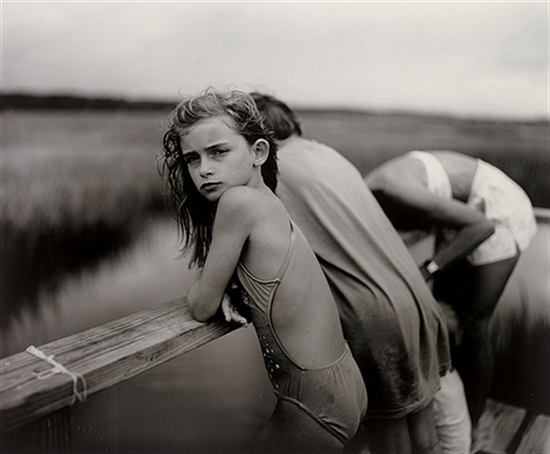Jessie in the Wind, 1989  Gelatin silver print  20 x 24 inches