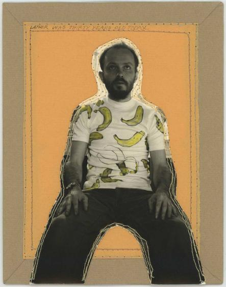 Keith A. Smith Lather was Thirty Years Old Today, 11:35 PM, 18 Mar, 1973 Mixed media with machine sewing