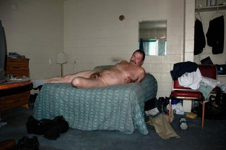 Man Nude on Bed, 2001-2006 Archival pigment print mounted to board 22 1/2 x 34 inches