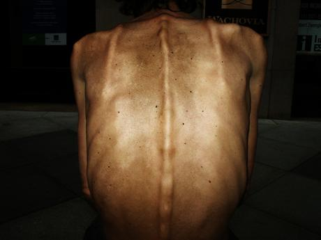 Man's Back, 2001-2006 Archival pigment print mounted to board 24 1/2 x 34 inches