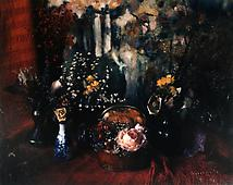 Floral with Marie Cosindas Painting, Boston, 1965 Dye transfer print mounted to board 6 1/2 x 8 in.