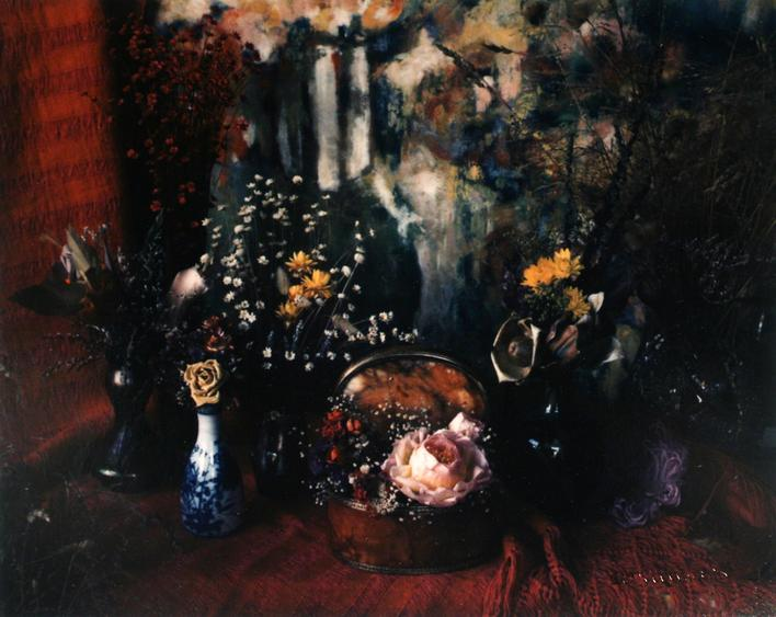 Floral with Cosindas Painting, 1965     Dye transfer print. 5 1/2 x 6 3/4 inches
