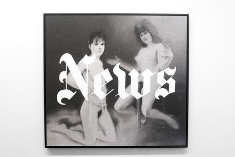 News, 1970 + Osterakte, 1967, 2012 Archival pigment print on canvas