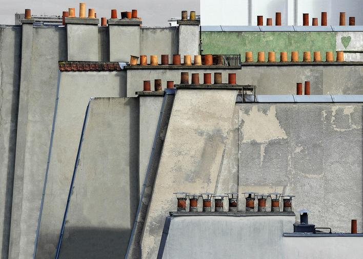 Paris Rooftops #4, 2014 Digital C-Print 48 x 68 inches