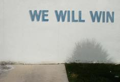 We Will Win, 2001-2006 Archival pigment print mounted to board 42 x 27 1/2 inches